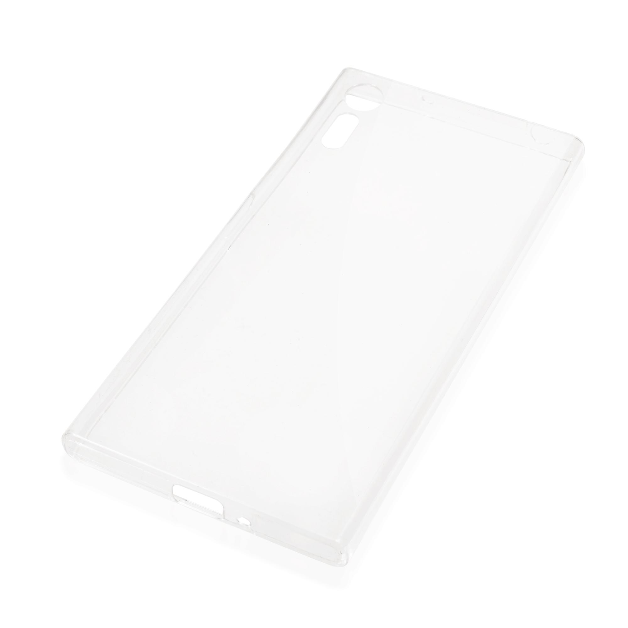 Накладка силиконовая Brosco прозрачная для Xperia XZ