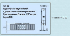 Радиатор Kermi FKO 22 500х1100