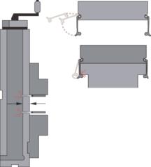 Набор параллельных подкладок (10 пар) с зажимными скобами с зажимными скобами 125