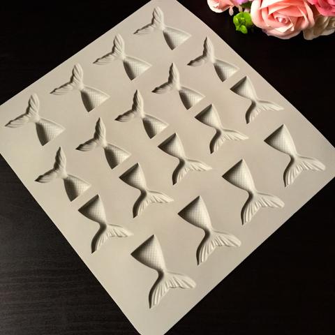 Силиконовая форма для шоколада ХВОСТ РУСАЛКИ 18в1 (45х35мм)