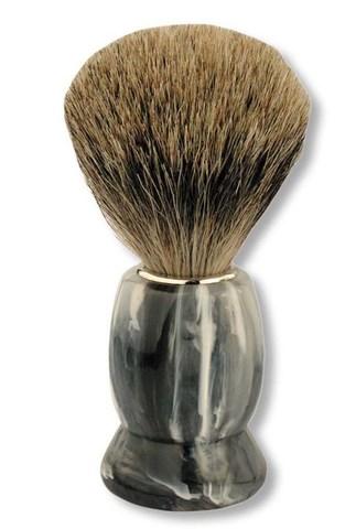 Помазок для бритья Mondial, пластик, свиной ворс, рукоять - цвет серый мрамор