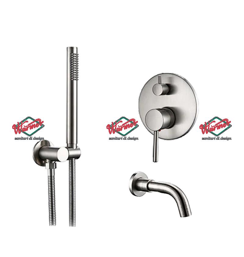 Brushed Chrome Line Комплект для ванны и душа Warmer Brushed Chrome Line 150135 Скриншот-13-12-2020-165928.png