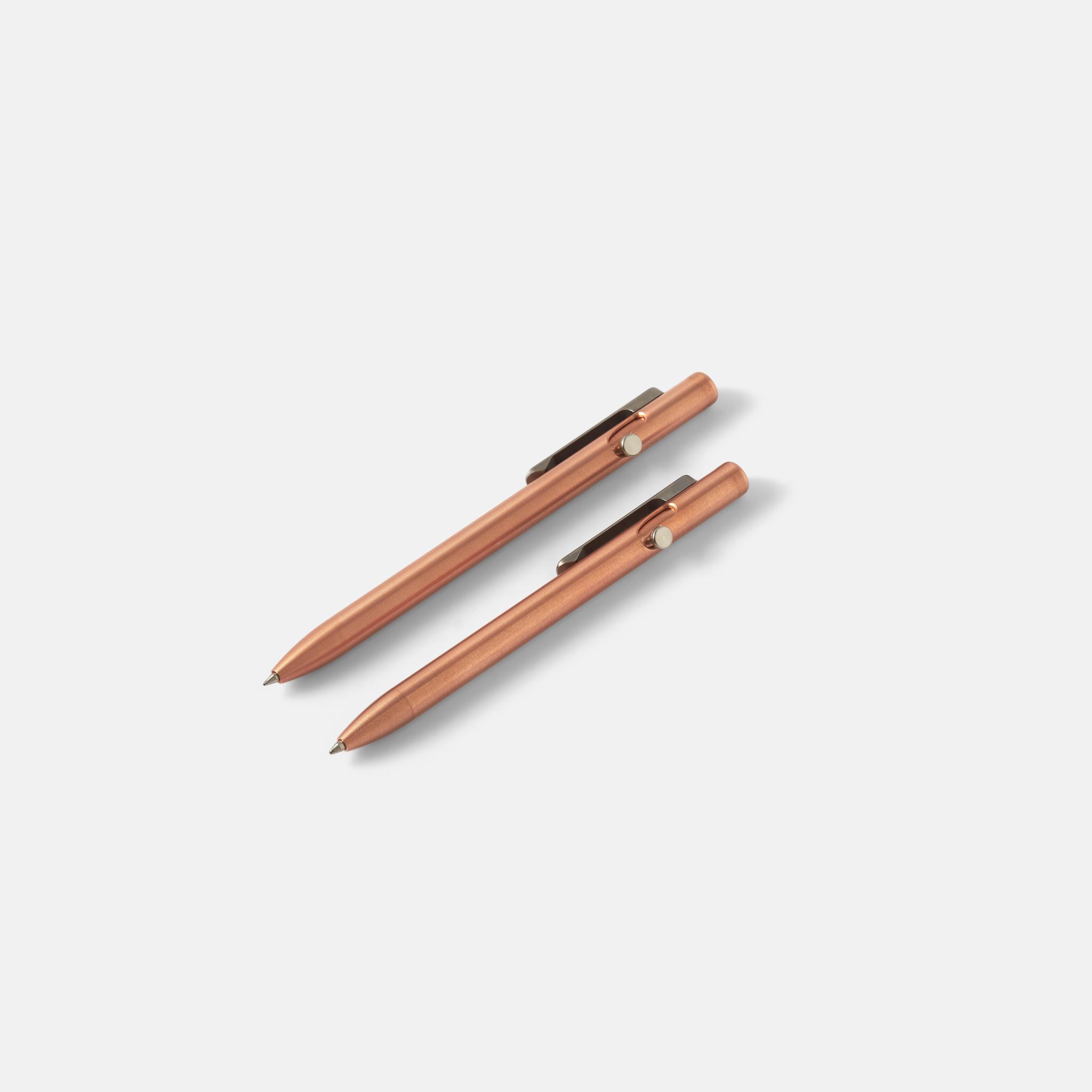 Tactile Turn Slim Bolt Action Pen Copper — ручка из меди