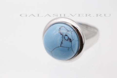 Кольцо с бирюзой из серебра 925
