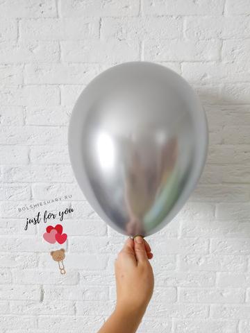 Воздушный шар хром серебро