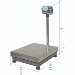 Весы товарные напольные MAS ProMAS PM1B-500 6080, RS232 (опция), 500кг, 200гр, 600*800, с поверкой, съемная стойка