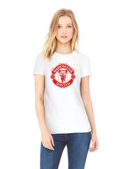 Футболка с принтом FC Manchester United (ФК Манчестер Юнайтед) белая w009