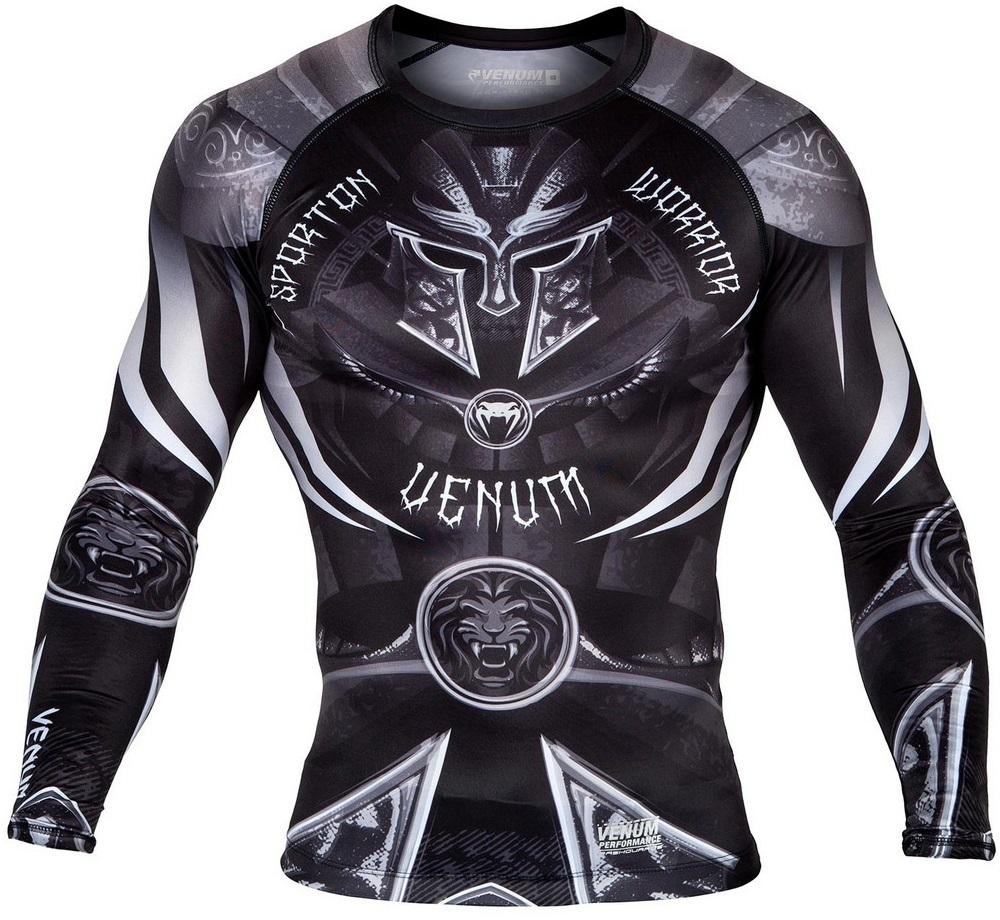 Термобелье/Рашгарды Рашгард Venum Gladiator 3.0 Rashguard LongSleeve Black/White 1.jpg