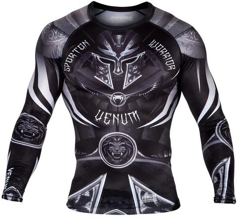 Рашгард Venum Gladiator 3.0 Rashguard LongSleeve Black/White