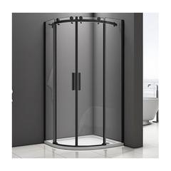 Душевое ограждение Good Door Galaxy R-TD-90-C-B 90х90 см, черный профиль