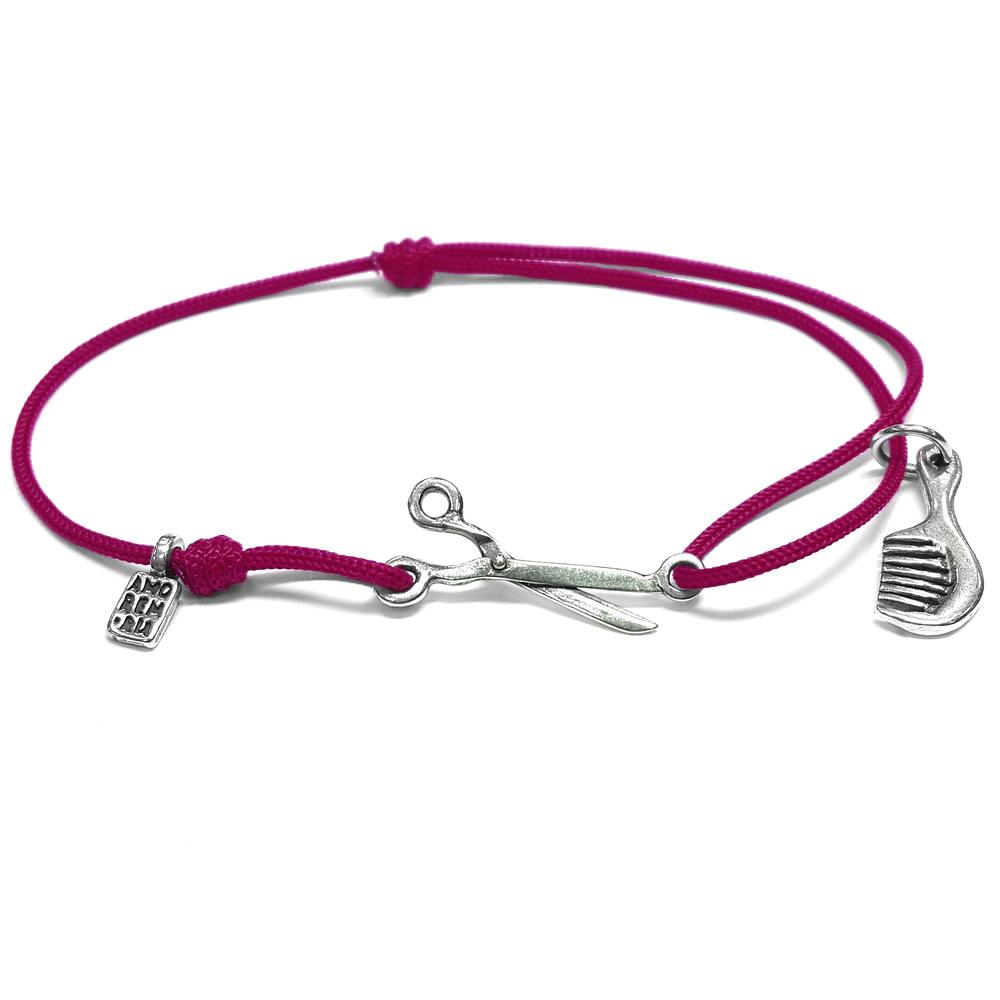 Hairdresser bracelet, sterling silver