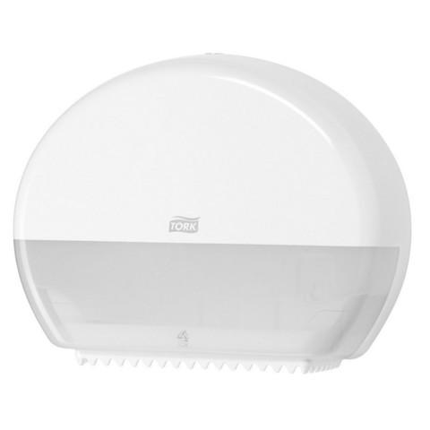 Диспенсер для туалетной бумаги в мини-рулонах Tork Elevation Т2 555000 пластиковый белый