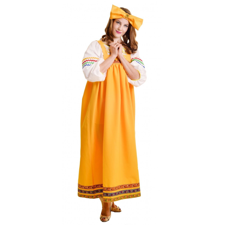 Костюм Барыня в желтом сарафане