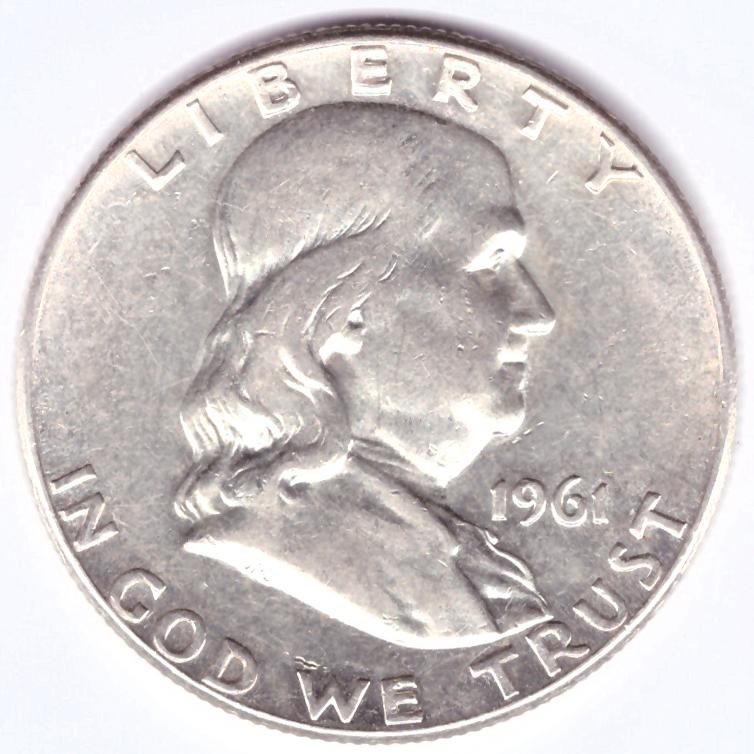 1/2 доллара 1961. США XF (Франклин)