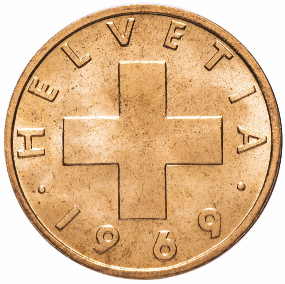 2 раппена. Швейцария. 1969 год. XF-AU