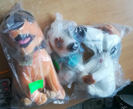 Набор из трёх мягких собачек