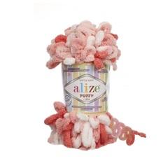 Пряжа Alize Puffy Color цвет 5922
