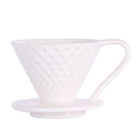 Воронка-пуровер для кофе Mojae 02 керамическая, белая