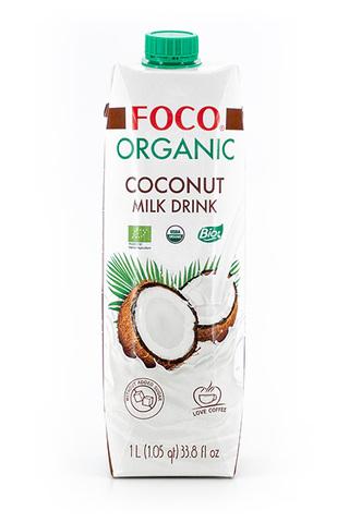 FOCO, Органический кокосовый молочный напиток без сахара, 1000мл