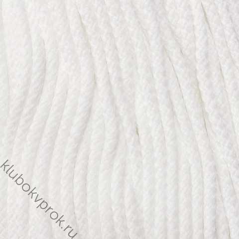Шнур полиэфирный 5мм с сердечником 200м, Белый