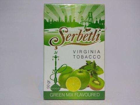 Табак для кальяна SERBETLI Green Mix 50gr