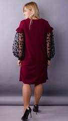 Віталіна. Святкова сукня великих розмірів. Бордо.