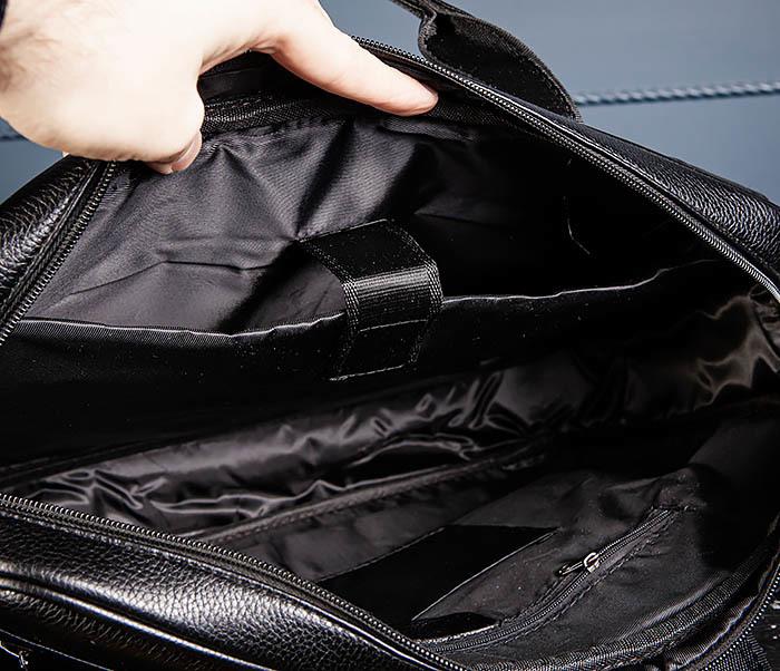 BAG536-1 Вместительный мужской портфель из кожи фото 09