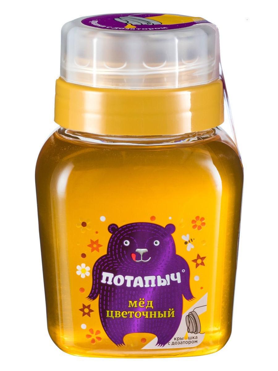 Мёд натуральный ПОТАПЫЧ цветочный [пл.банка с дозатором 500г]