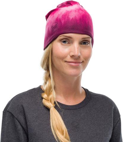 Тонкая флисовая шапочка Buff Hat Polar Microfiber Hollow Pink фото 2