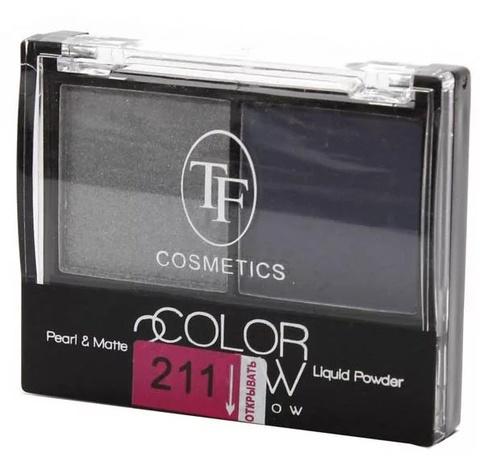 ТФ Тени двухцветные компактные тон 211 темное серебро и фиалковый  CTE-21