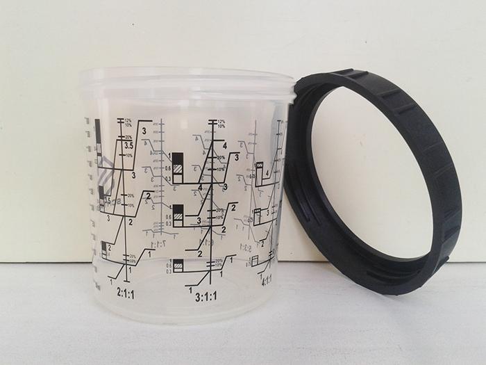 Многоразовая мерная емкость  SCHTAER 0.6 л. с фиксирующим кольцом