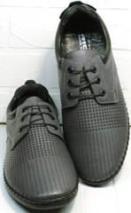 Кожаные сникерсы туфли мужские под джинсы Ridge Z-430 75-80Gray