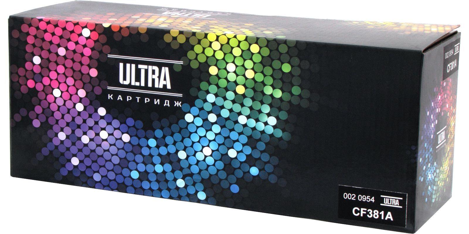 Картридж лазерный цветной ULTRA 312A CF381A голубой (cyan), до 2700 стр.