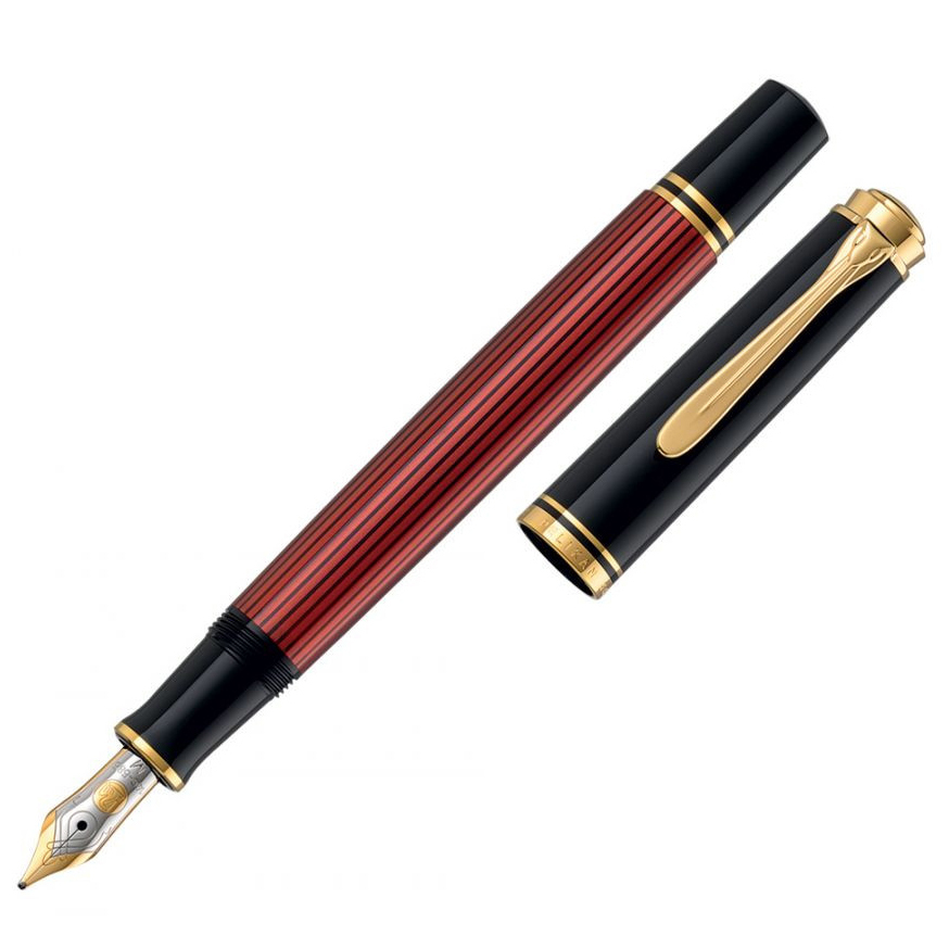 Pelikan Souveraen - Black and Red GT, перьевая ручка, M