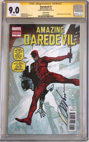 CGC  Daredevil #7. Автограф Алекс Малеев. Состояние 9,0