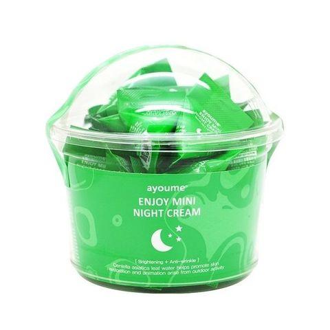 Ночной крем с центеллой азиатской  AYOUME  Enjoy Mini Night Cream 1 пакетик  - 3 гр