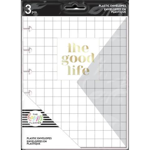 Конверты пластиковые для ежедневника Happy Planner Plastic Envelopes -Good Life - 3 шт.
