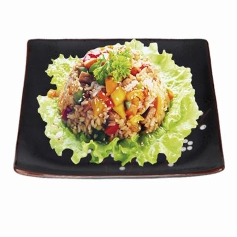 Рис с креветками (устричный соус)