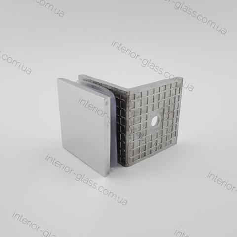 Соединитель стена-стекло 90 град. HDL-722 PSS литой нерж. сталь