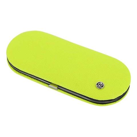 Маникюрный набор GD, 5 предметов, цвет желтый, кожаный футляр