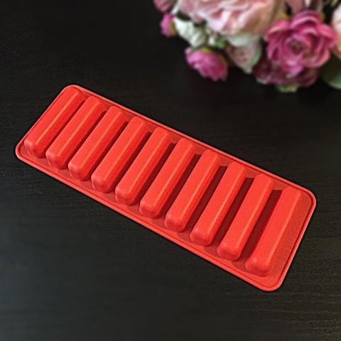 Силиконовая форма для шоколада Мини Батончики 10в1