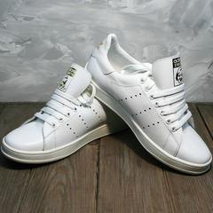 Модные женские кроссовки Adidas Stan Smith White-R A14w15wg