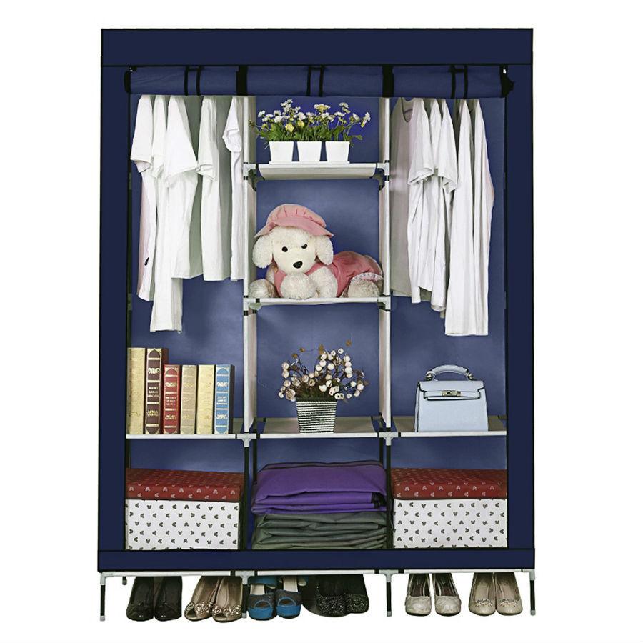 Органайзеры и кофры для одежды и обуви Складной каркасный тканевый шкаф Storage Wardrobe skladnoy-tkanevyj-shkaf.jpg