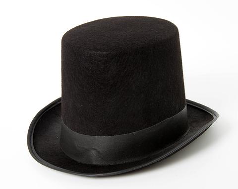Карнавальная шляпа Цилиндр, Черный