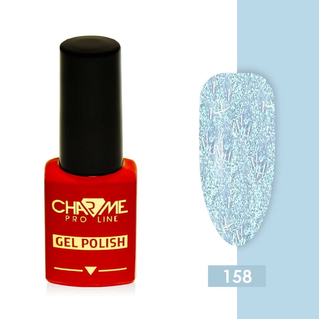 Гель-лак 158 - голубой перламутр Charme 10 мл