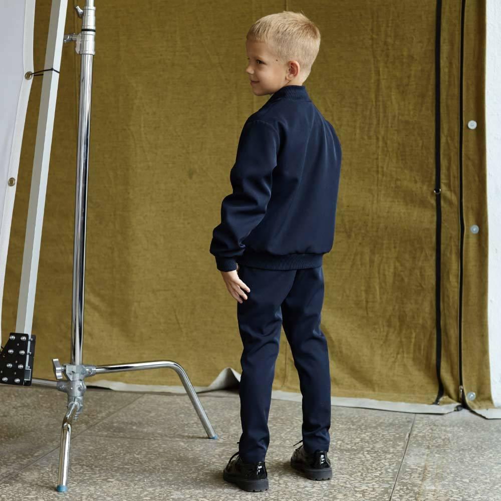 Детский школьный костюм для мальчиков в синем цвете