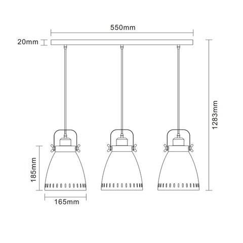 Подвесной светильник CAMELION New York PL-428S3 C73 серый + медь