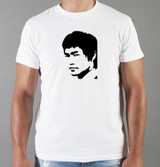 Футболка с принтом Брюс Ли (Bruce Lee) белая 009