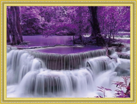 Алмазная Мозаика 40x50 Фиолетовый водопад (арт. MGL3484 )