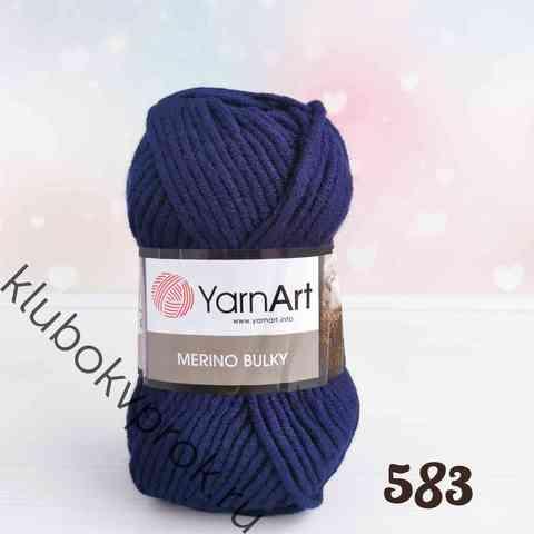 YARNART MERINO BULKY 583, Чернильный синий
